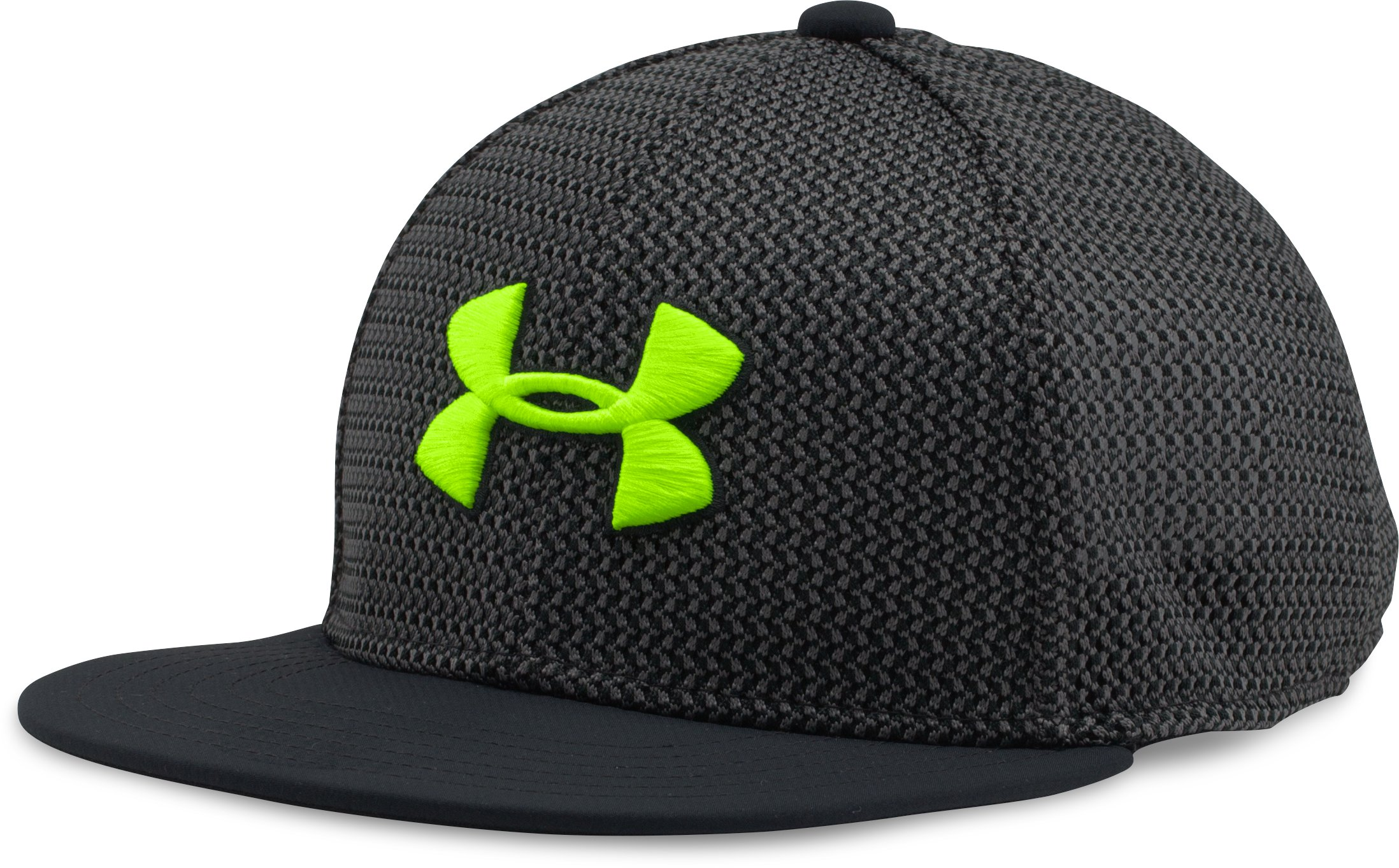 Boys' UA Twist Knit Snapback Cap, Black