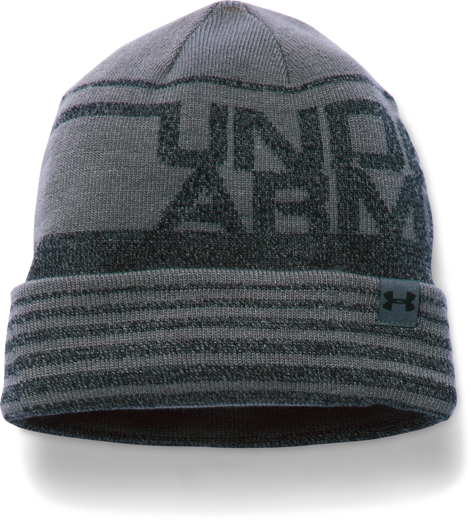 Boys' UA Cuff Billboard Beanie, Graphite, undefined