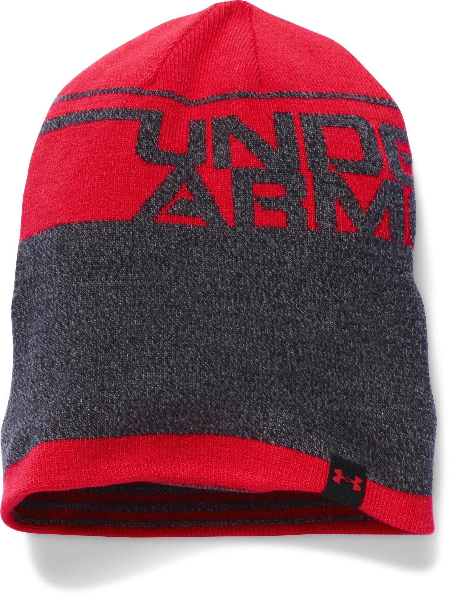 Boys' UA Cuff Billboard Beanie, Red, undefined