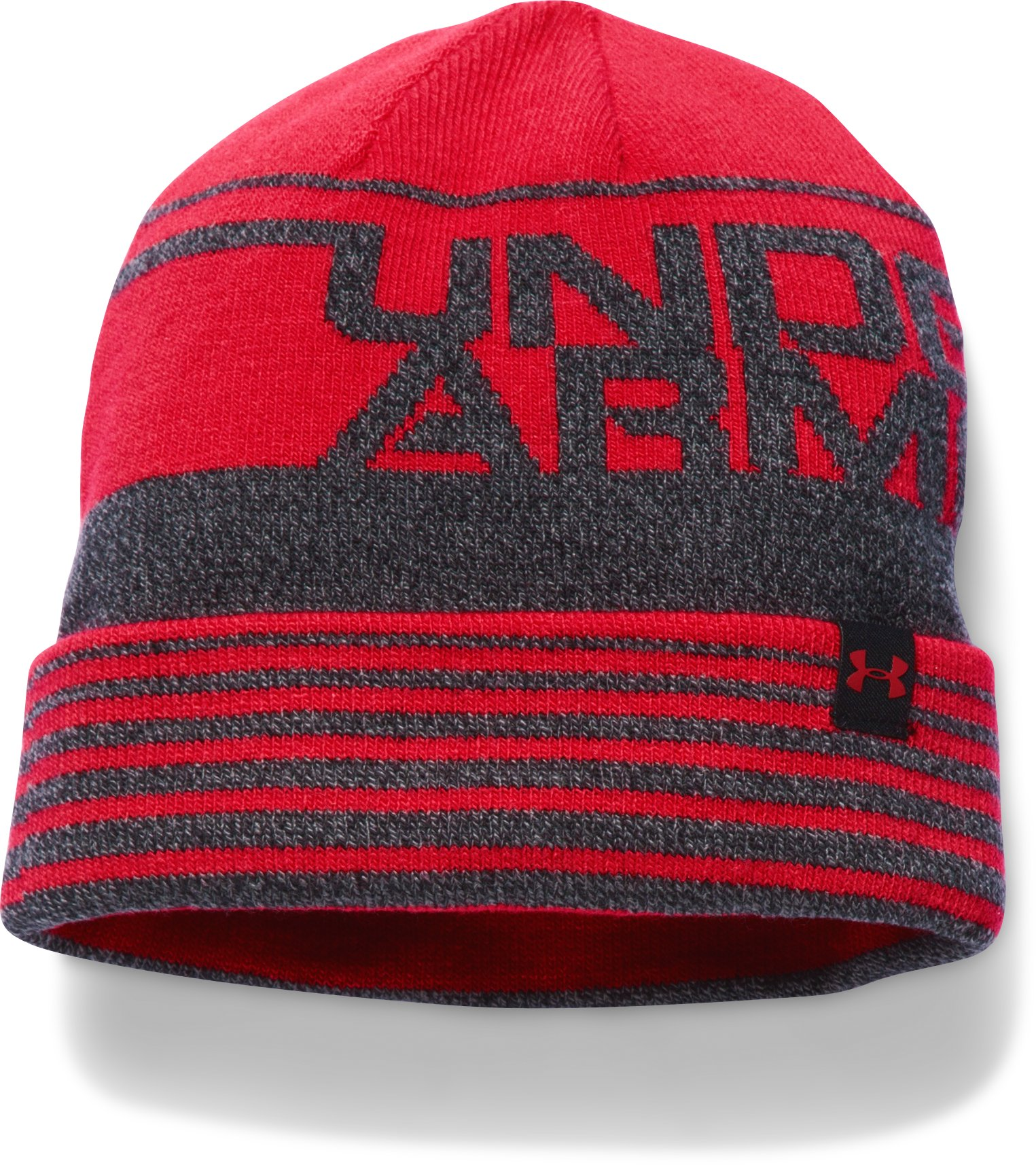 Boys' UA Cuff Billboard Beanie, Red, zoomed image