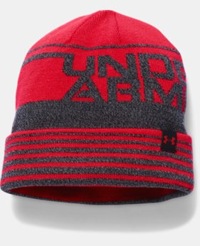 New Arrival  Boys' UA Cuff Billboard Beanie LIMITED TIME: FREE SHIPPING 2 Colors $22.99