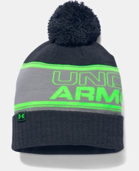 New to Outlet Men's UA Retro Pom Beanie  1 Color $20.99