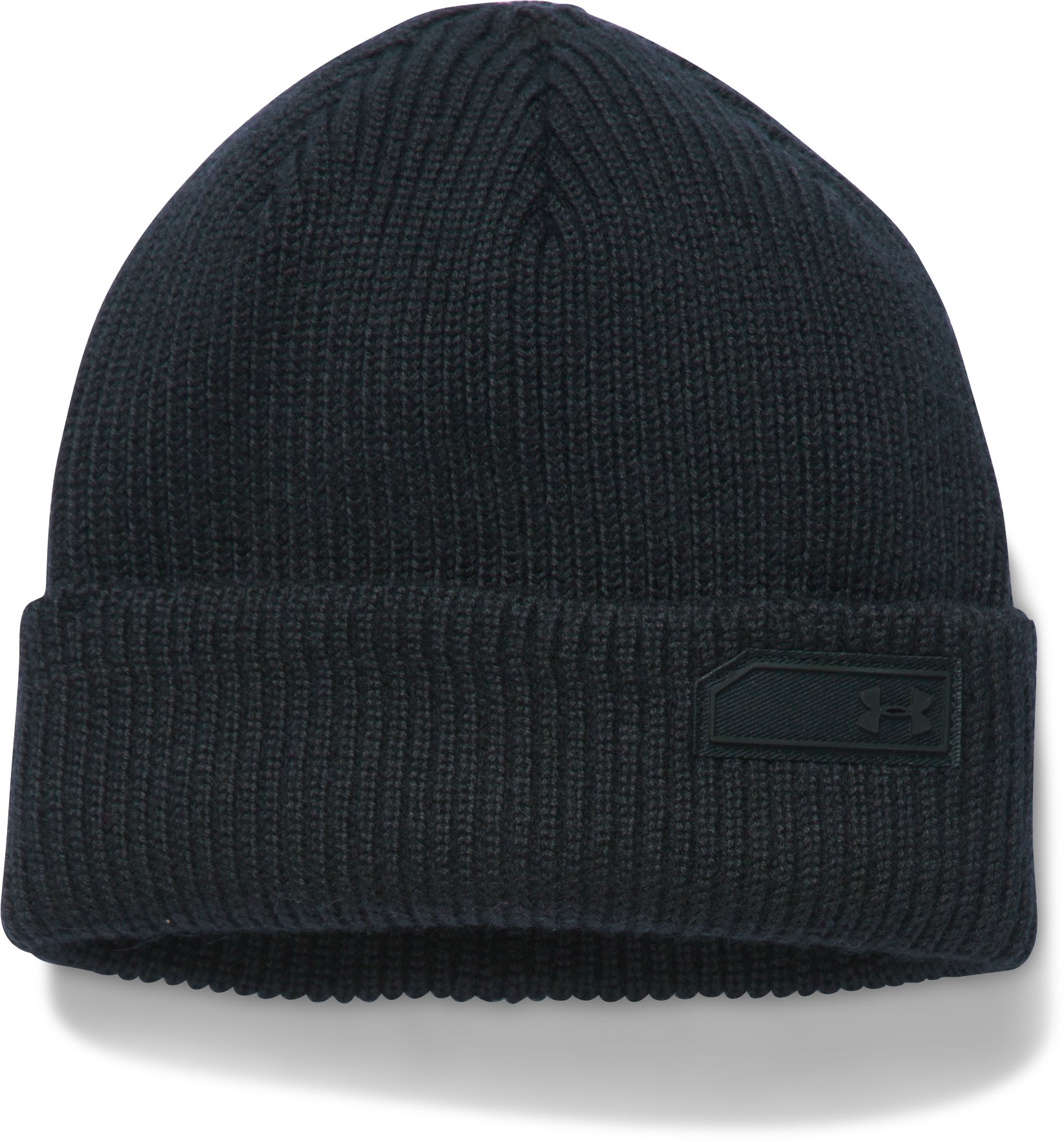 Men's UA Charged Wool Beanie, Black ,