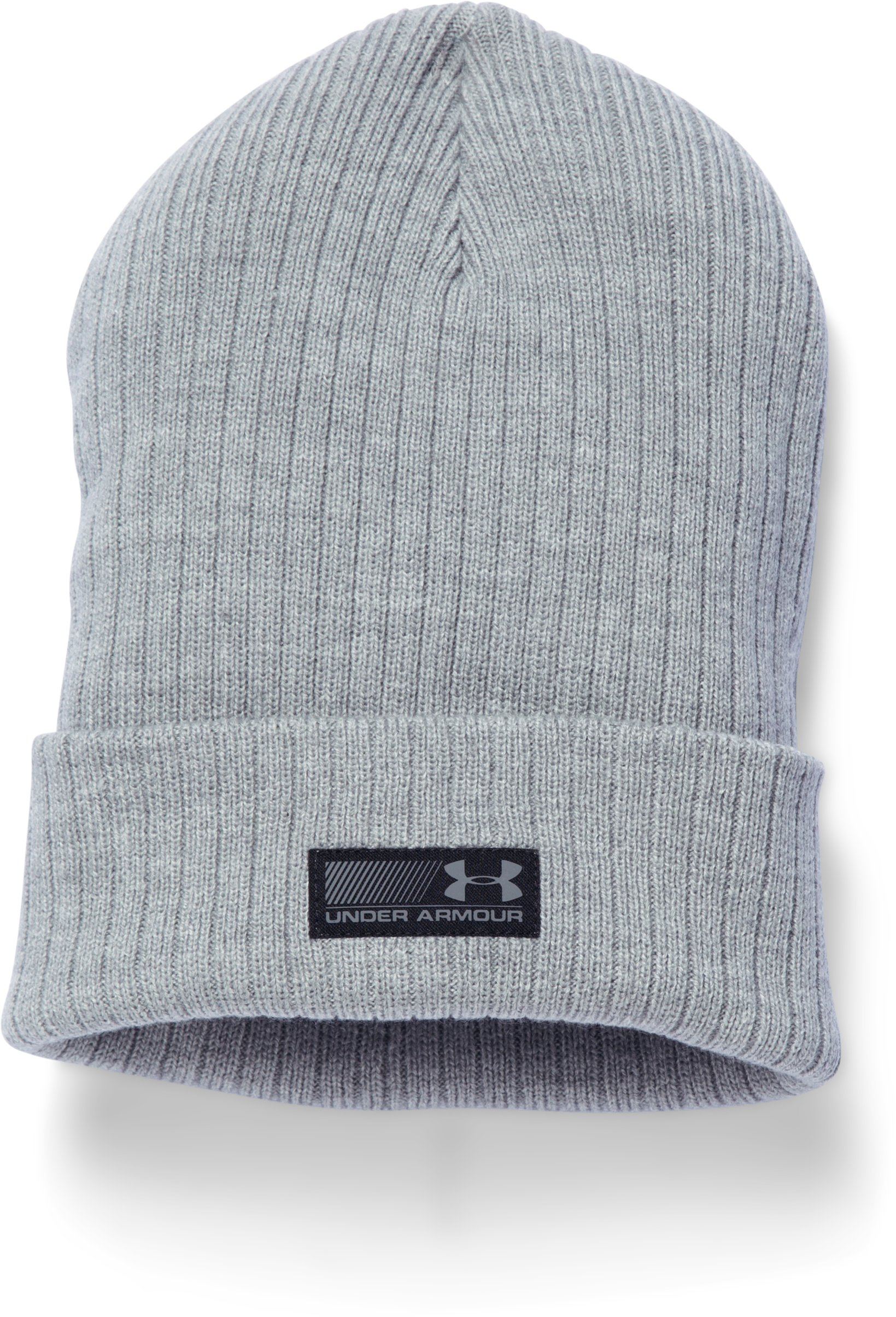 Men's UA Truck Stop Beanie, True Gray Heather, zoomed image