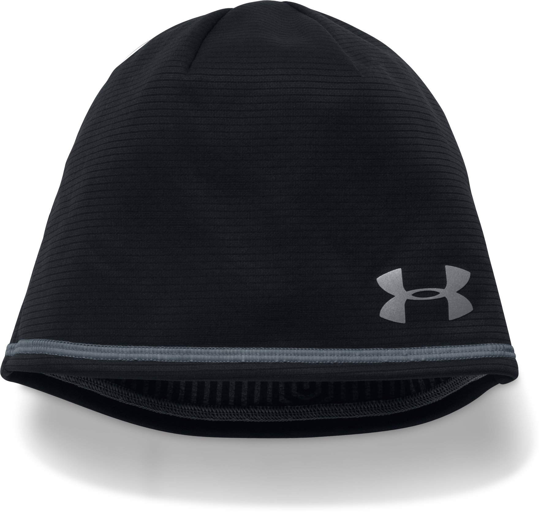 Men's UA No Breaks Microthread Beanie, Black , zoomed image