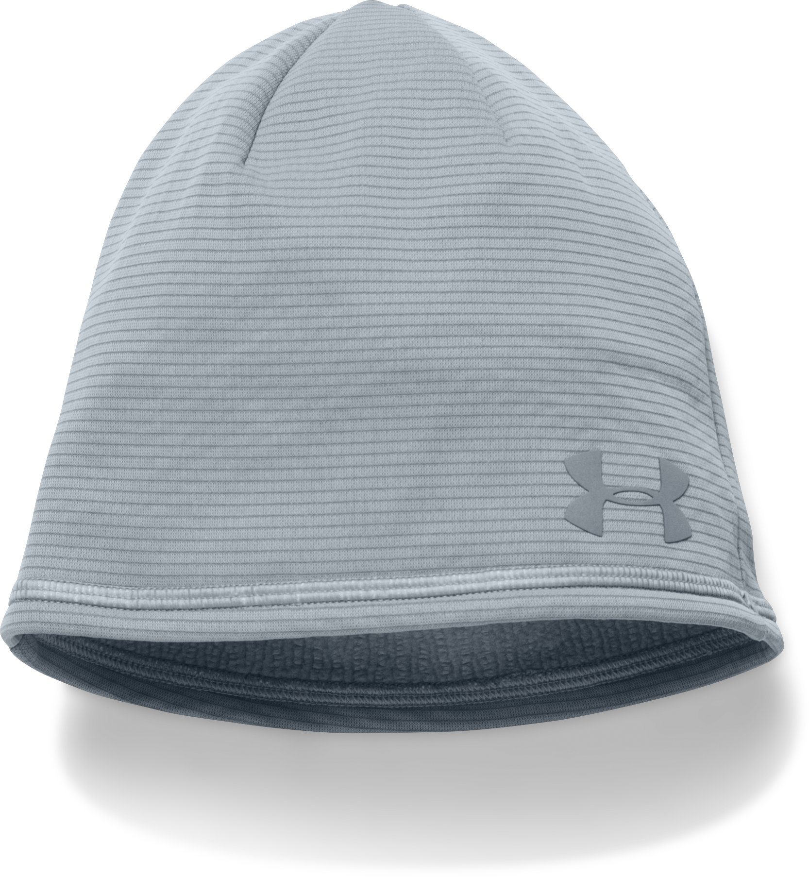 Men's UA No Breaks Microthread Beanie, Steel, undefined