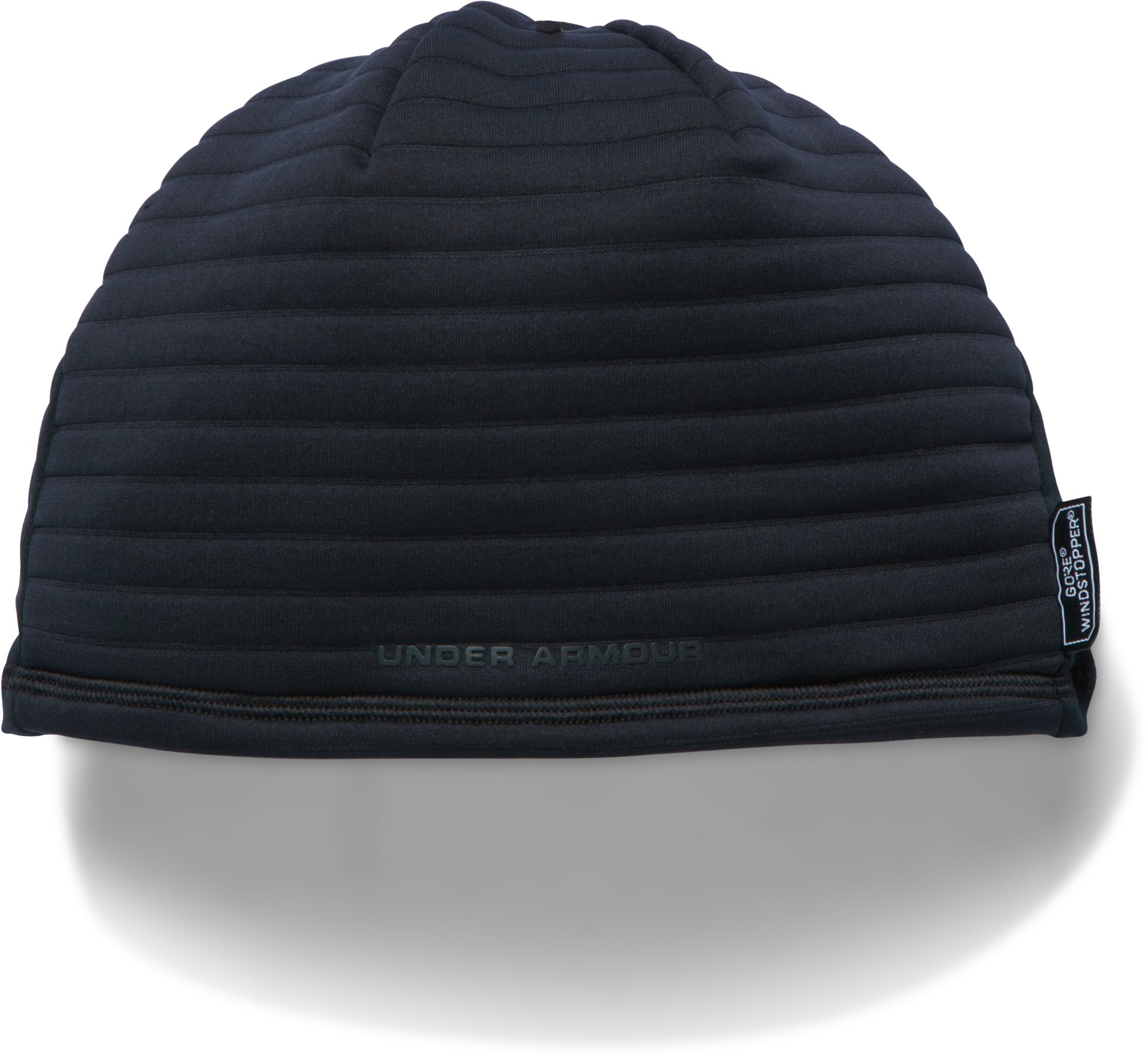 Men's UA No Breaks GORE® WINDSTOPPER® Beanie, Black ,