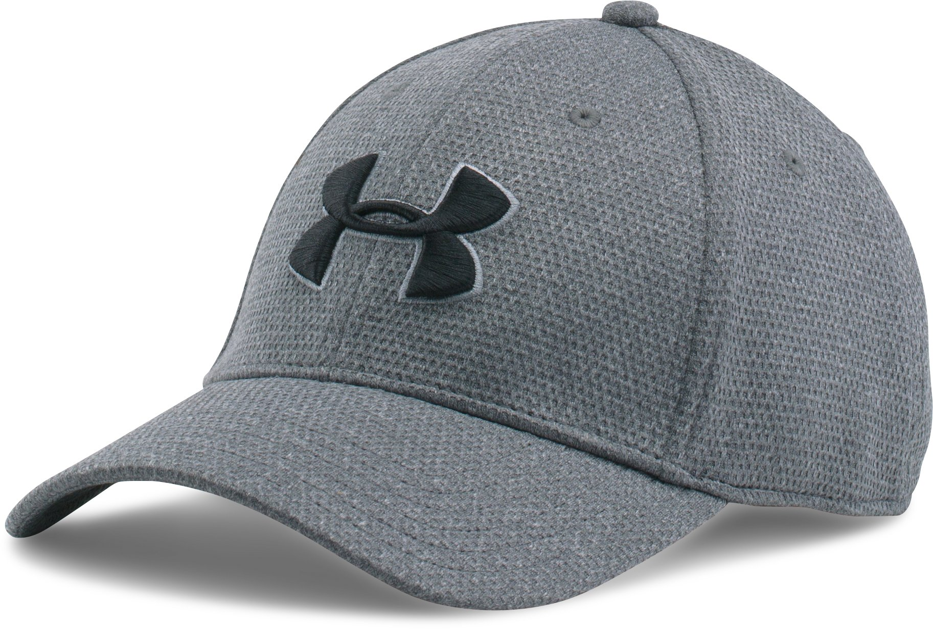 Men's UA Heathered Blitzing Cap, Steel, zoomed image