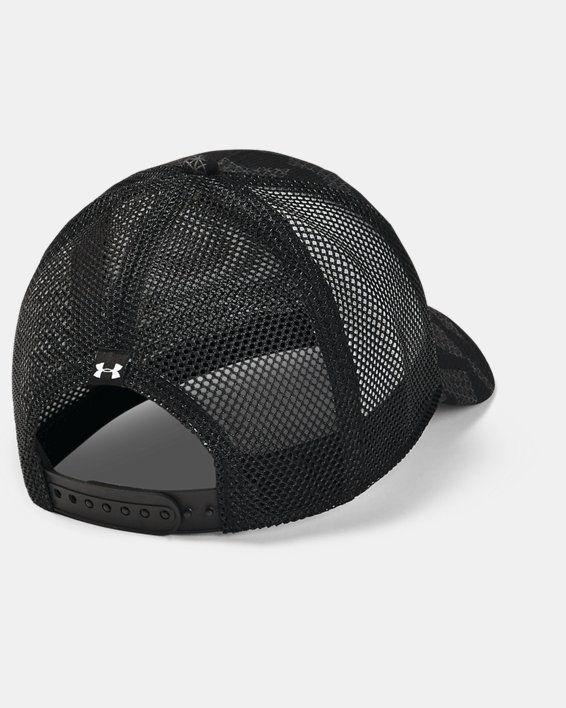 Men's UA Blitz Trucker Cap, Black, pdpMainDesktop image number 1