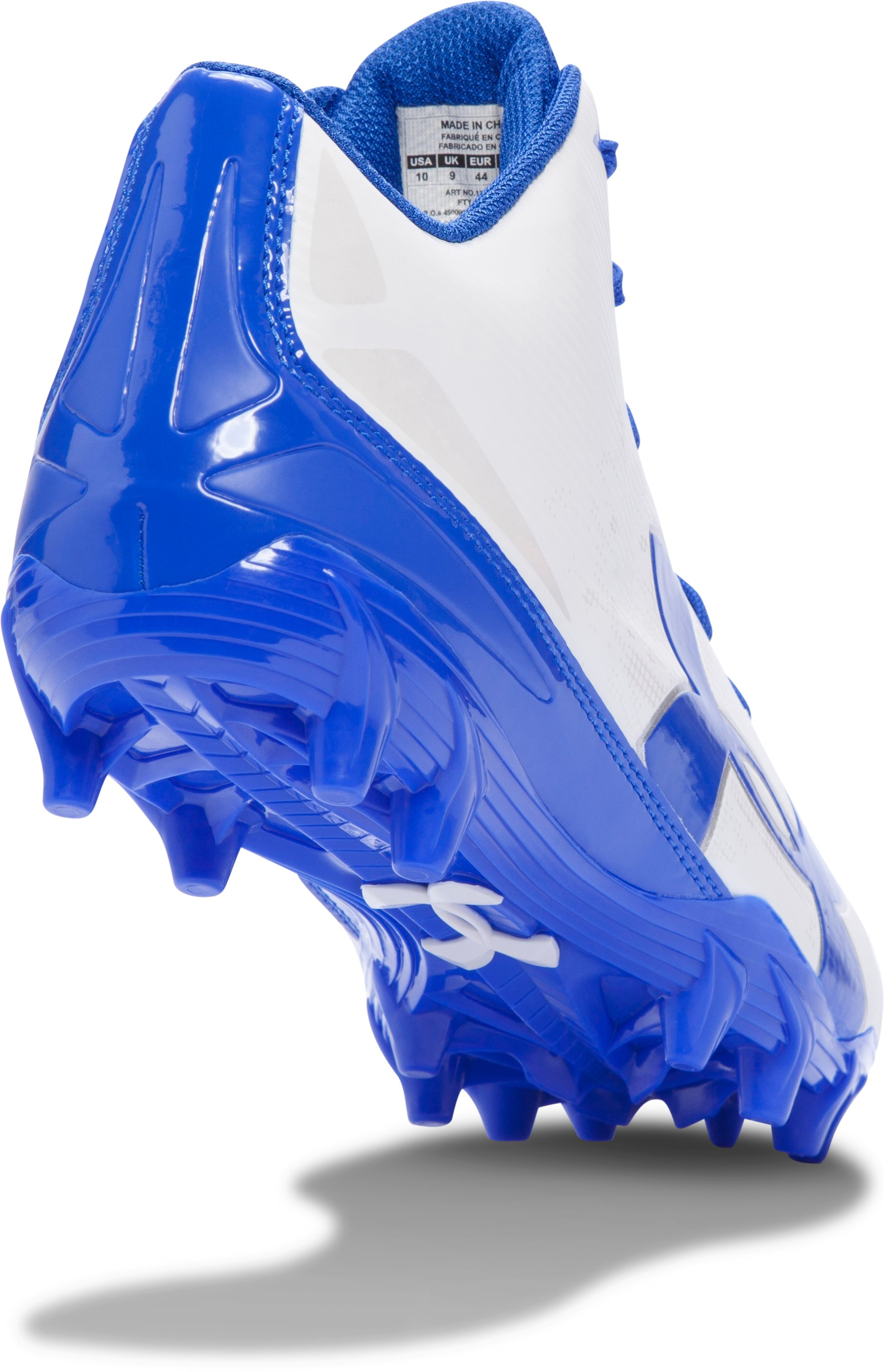 Men's UA Fierce Phantom Mid MC Football Cleats, White, undefined