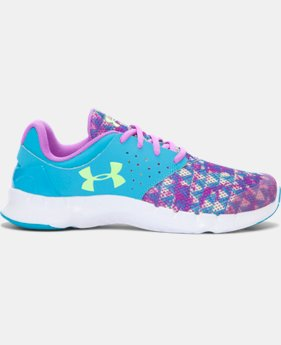 New Arrival Girls' Grade School UA Flow KO Running Shoes  1 Color $64.99