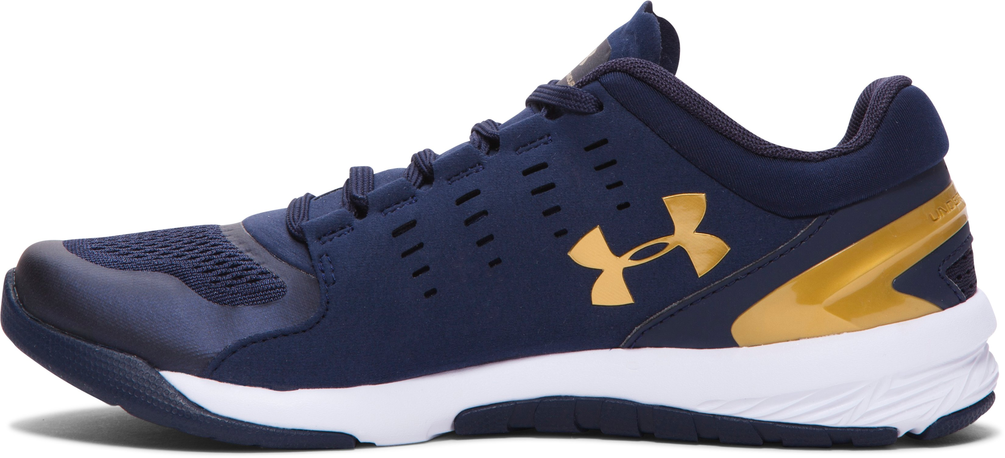 Women's UA Charged Stunner Team Training Shoes, Midnight Navy,
