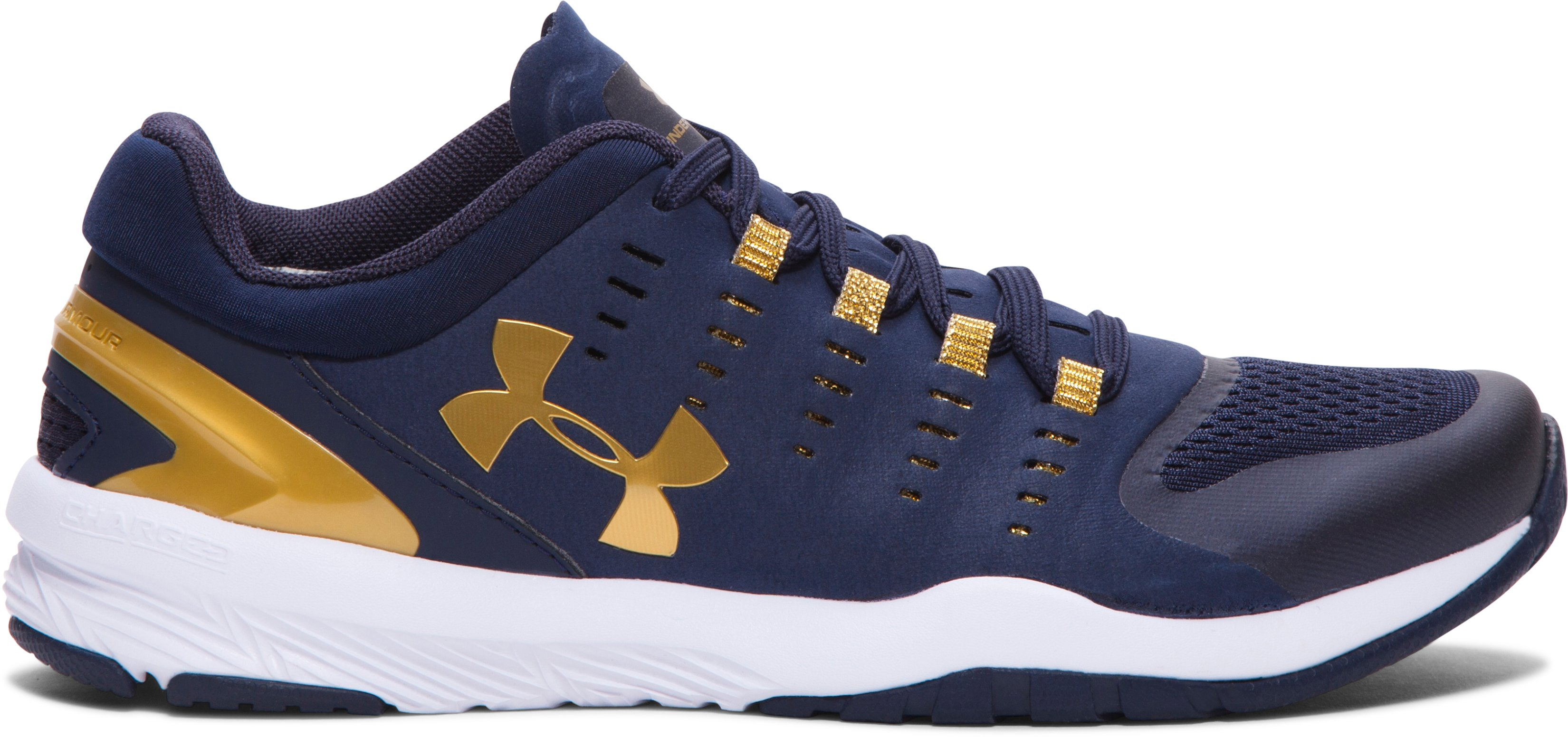 Women's UA Charged Stunner Team Training Shoes, Midnight Navy