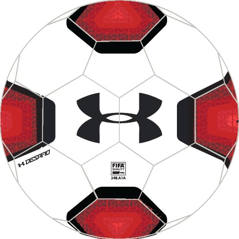 UA 695 Elite Match Play Soccer Ball, White