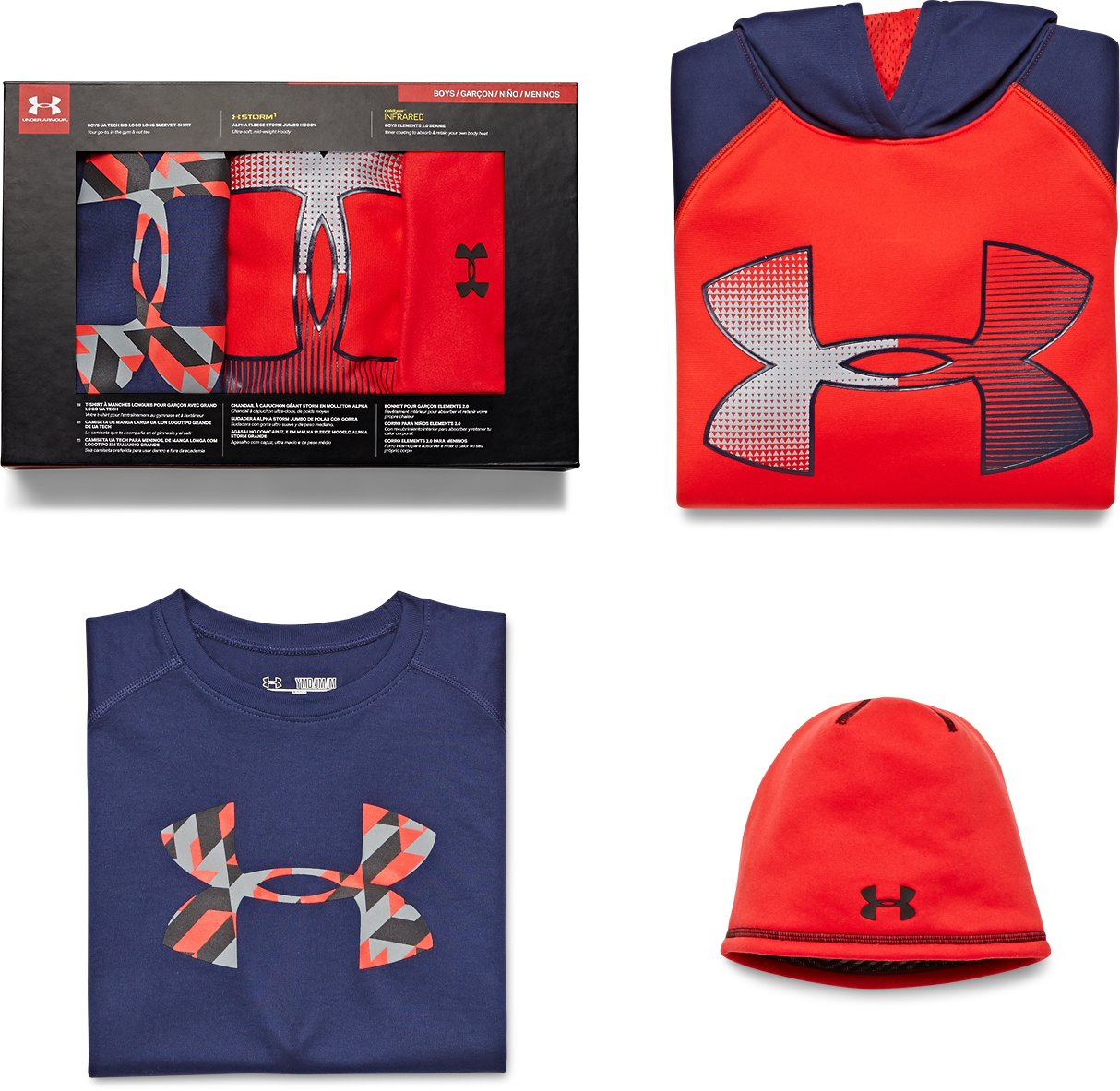 Boys' UA Holiday Gift Pack, Midnight Navy, zoomed image