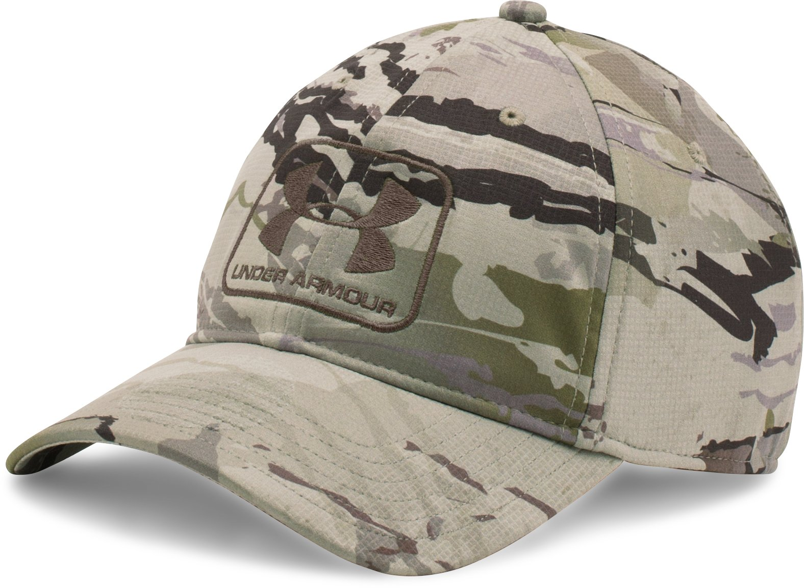 Men's UA Camo Stretch Fit Cap, RIDGE REAPER® BARREN, zoomed image