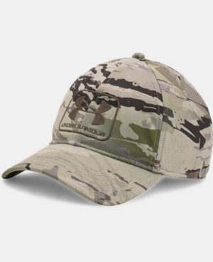 Men's UA Camo Stretch Fit Cap  3 Colors $34.99