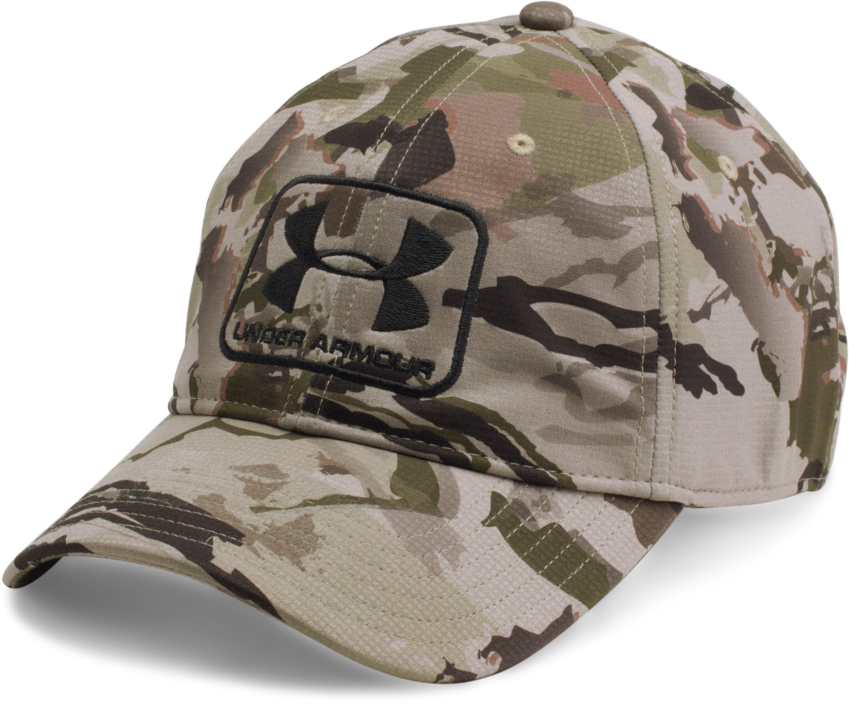 Men's UA Camo Stretch Fit Cap, RIDGE REAPER® BARREN, undefined