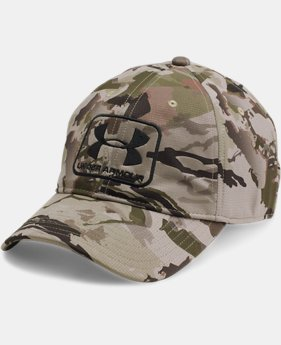 Men's UA Camo Stretch Fit Cap  4 Colors $34.99
