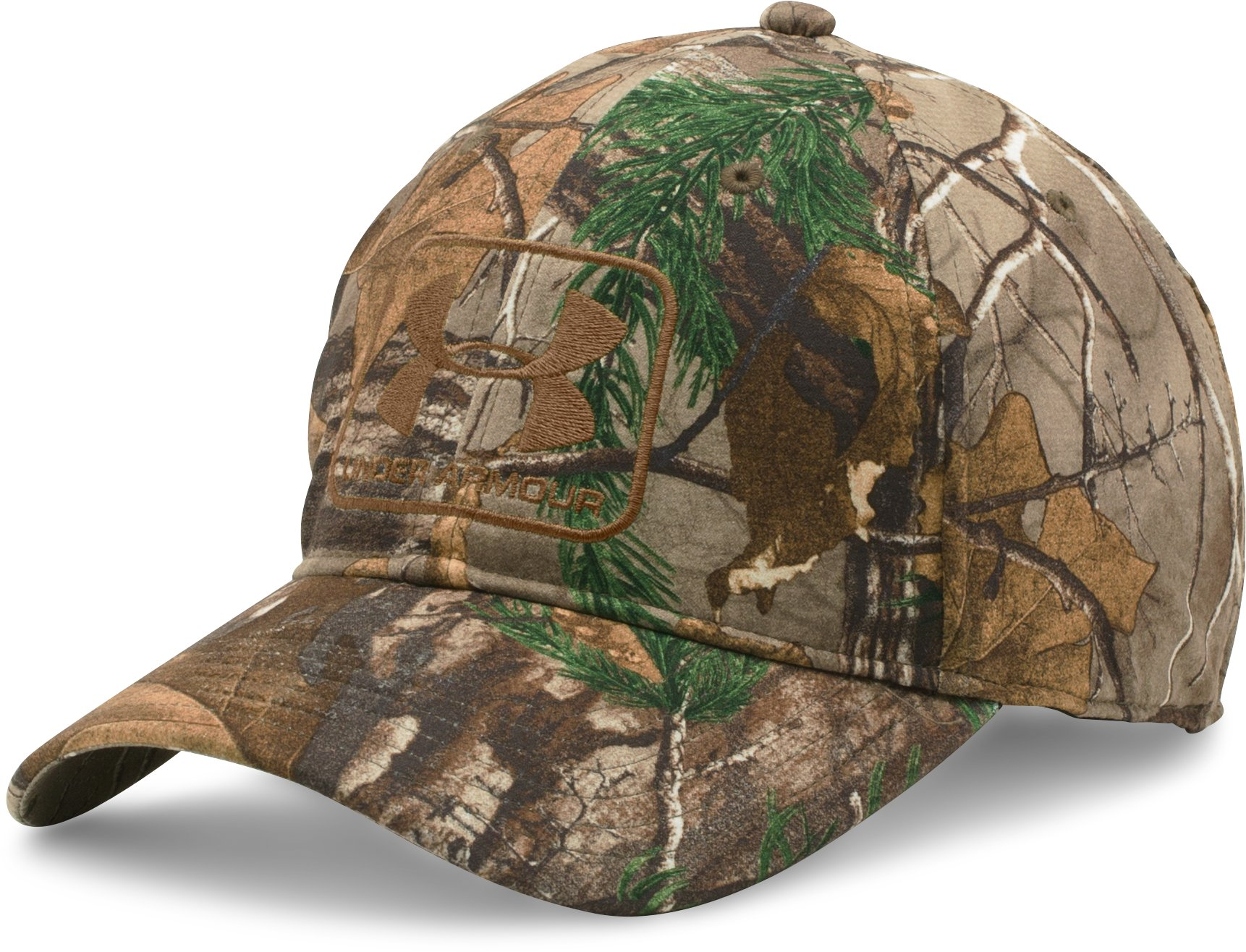 Men's UA Camo Stretch Fit Cap, REALTREE AP-XTRA