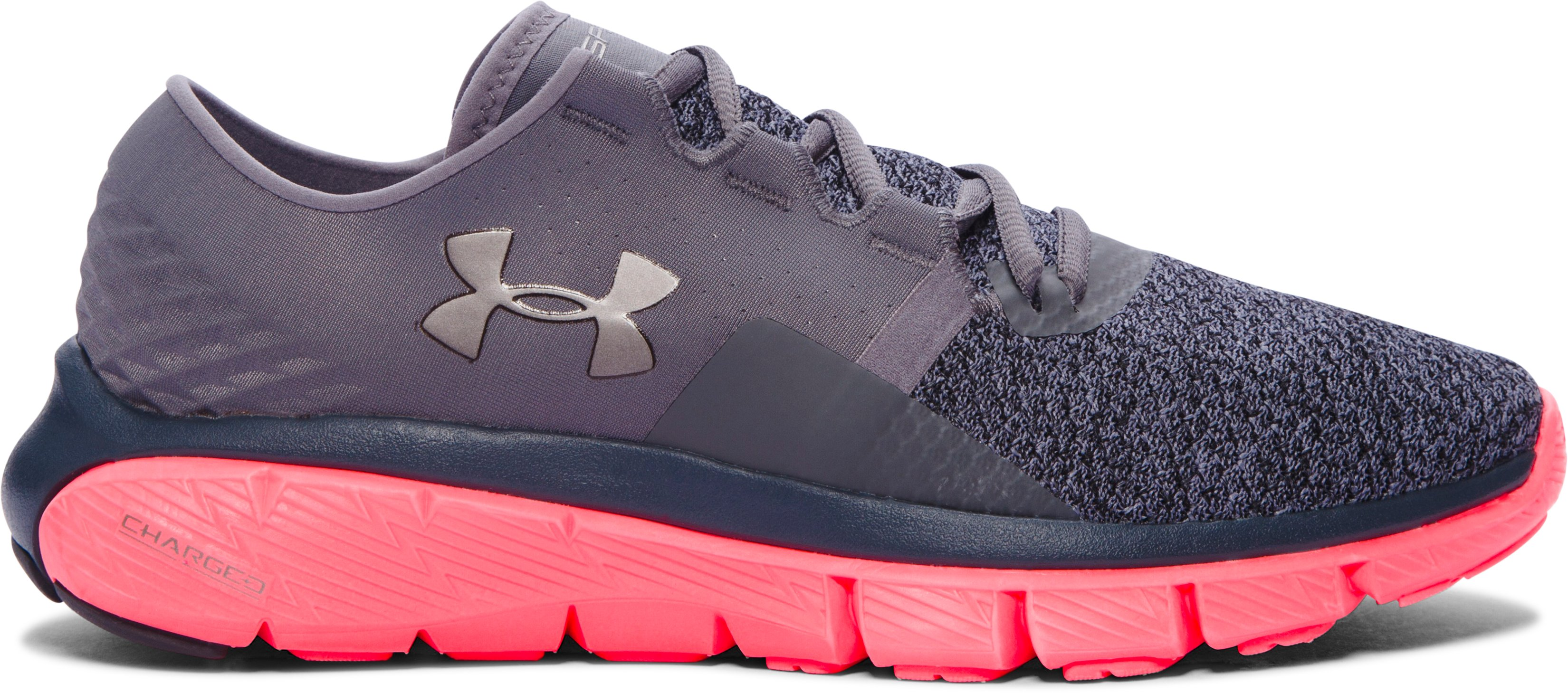 Women's UA SpeedForm® Fortis 2 TXTR Running Shoes, Graphite, zoomed image