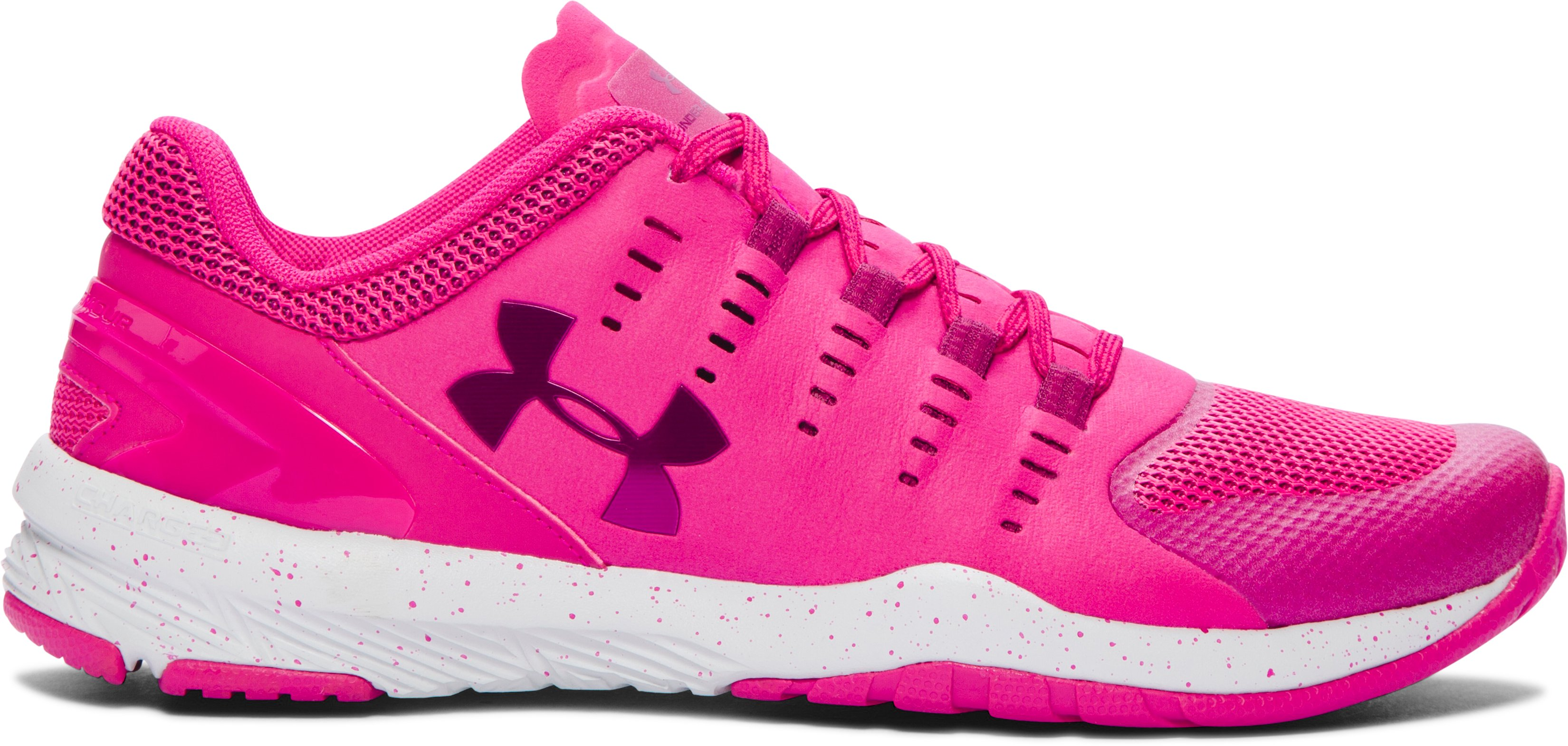 Women's UA Charged Stunner EXP Training Shoes, Tropic Pink