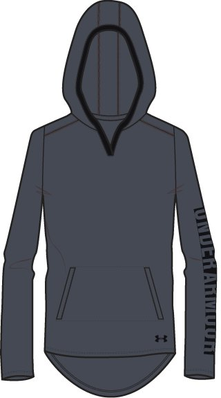 Girls' UA Tech™ Hoodie, STEALTH GRAY,