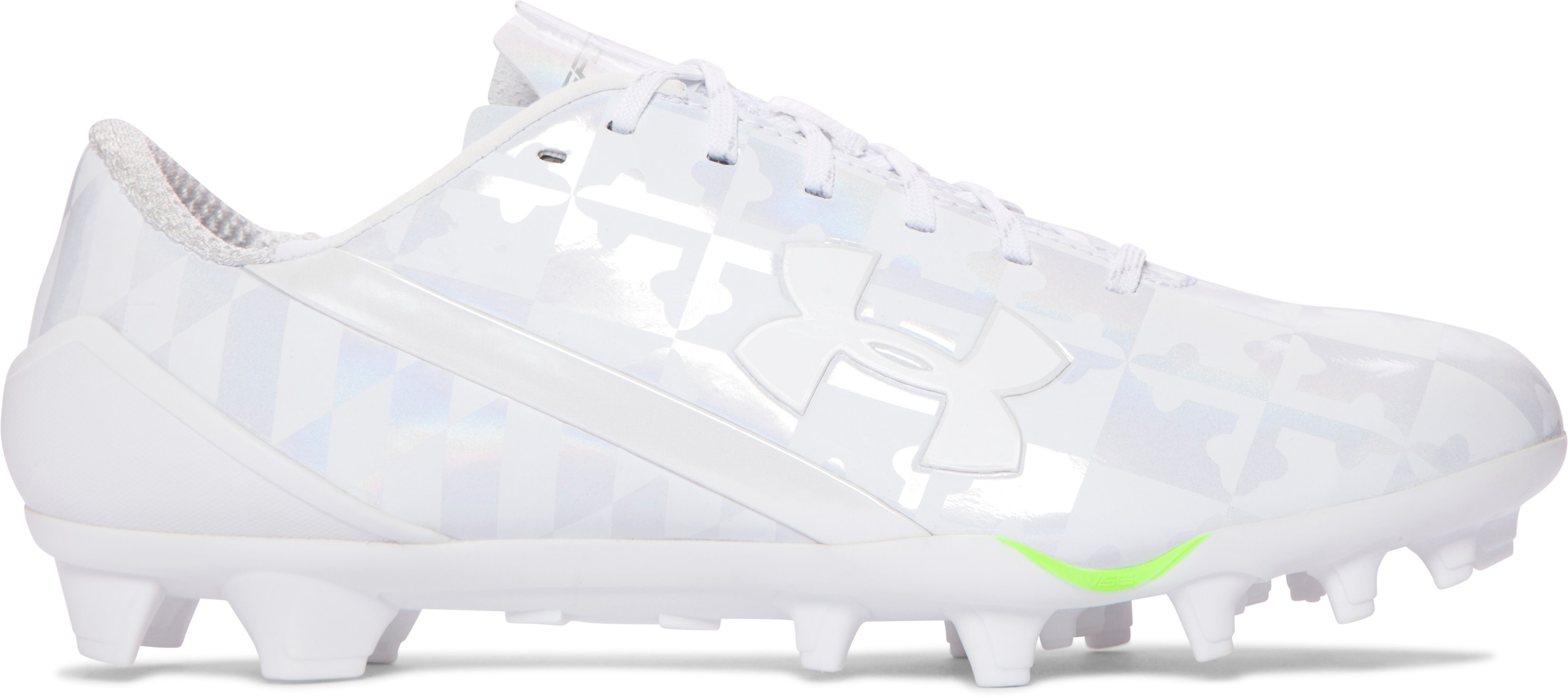 Men's UA Spotlight Lacrosse Cleats, White