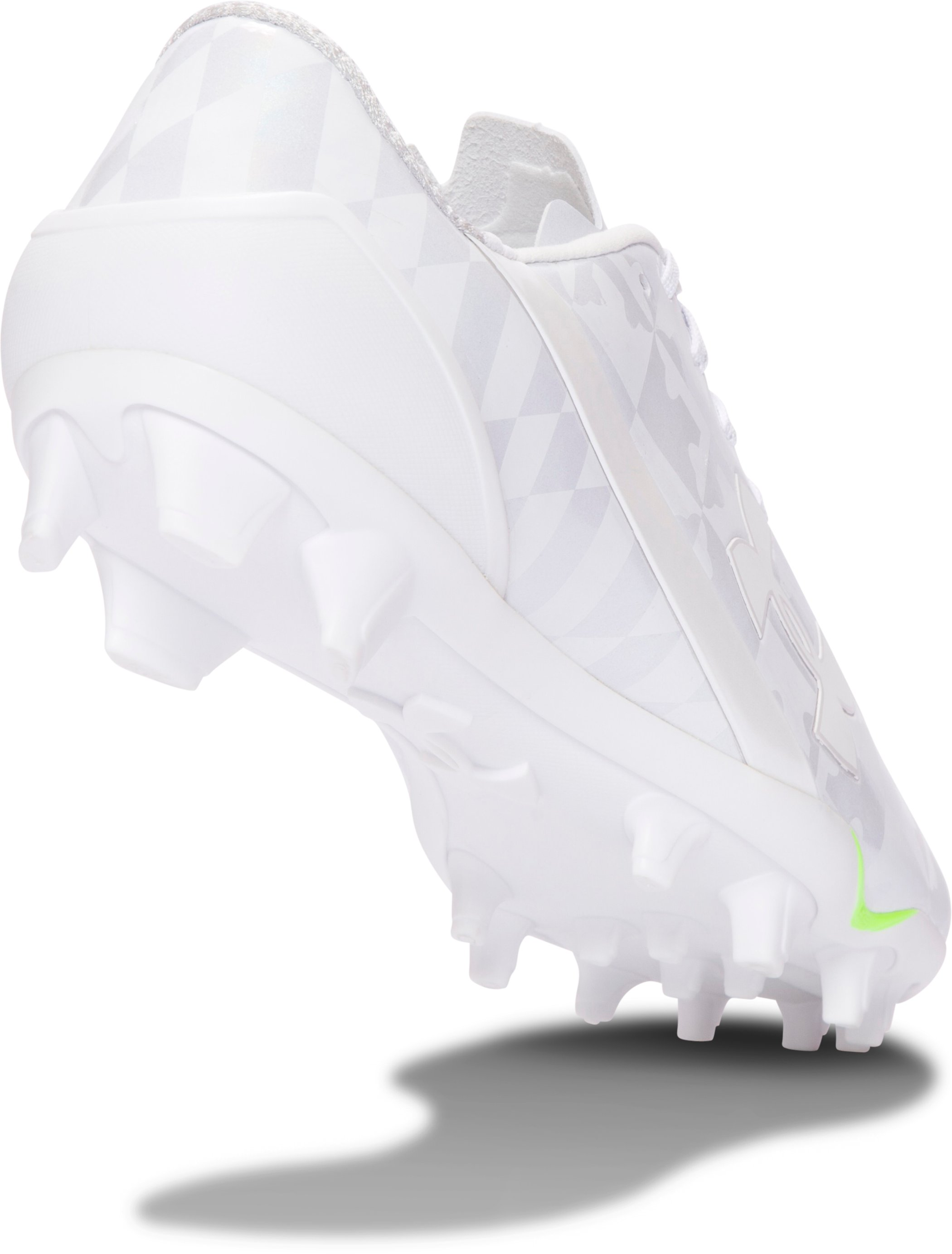 Men's UA Spotlight Lacrosse Cleats, White, undefined