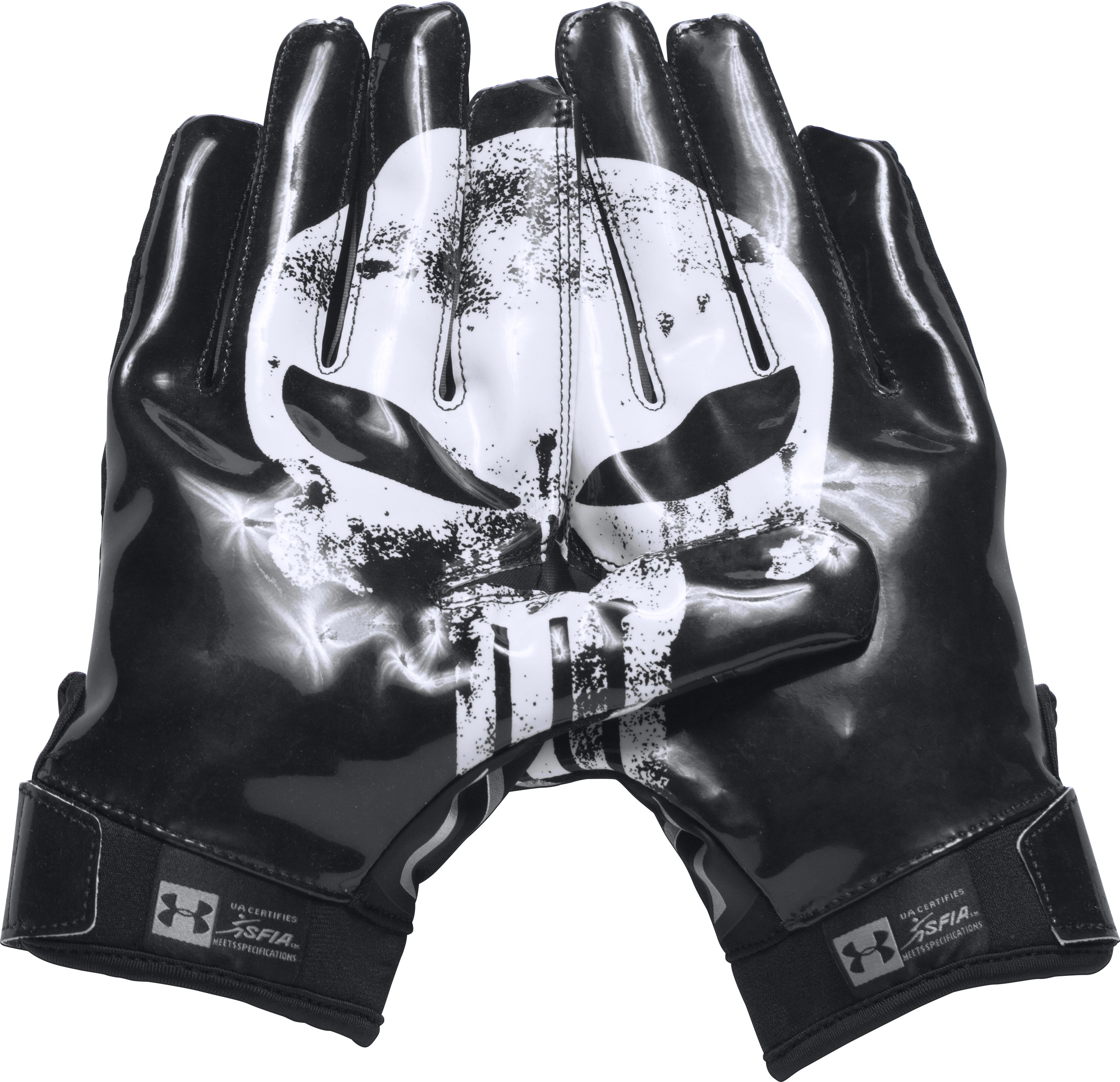 Men's Under Armour® Alter Ego Punisher F5 Football Gloves, Black , zoomed image
