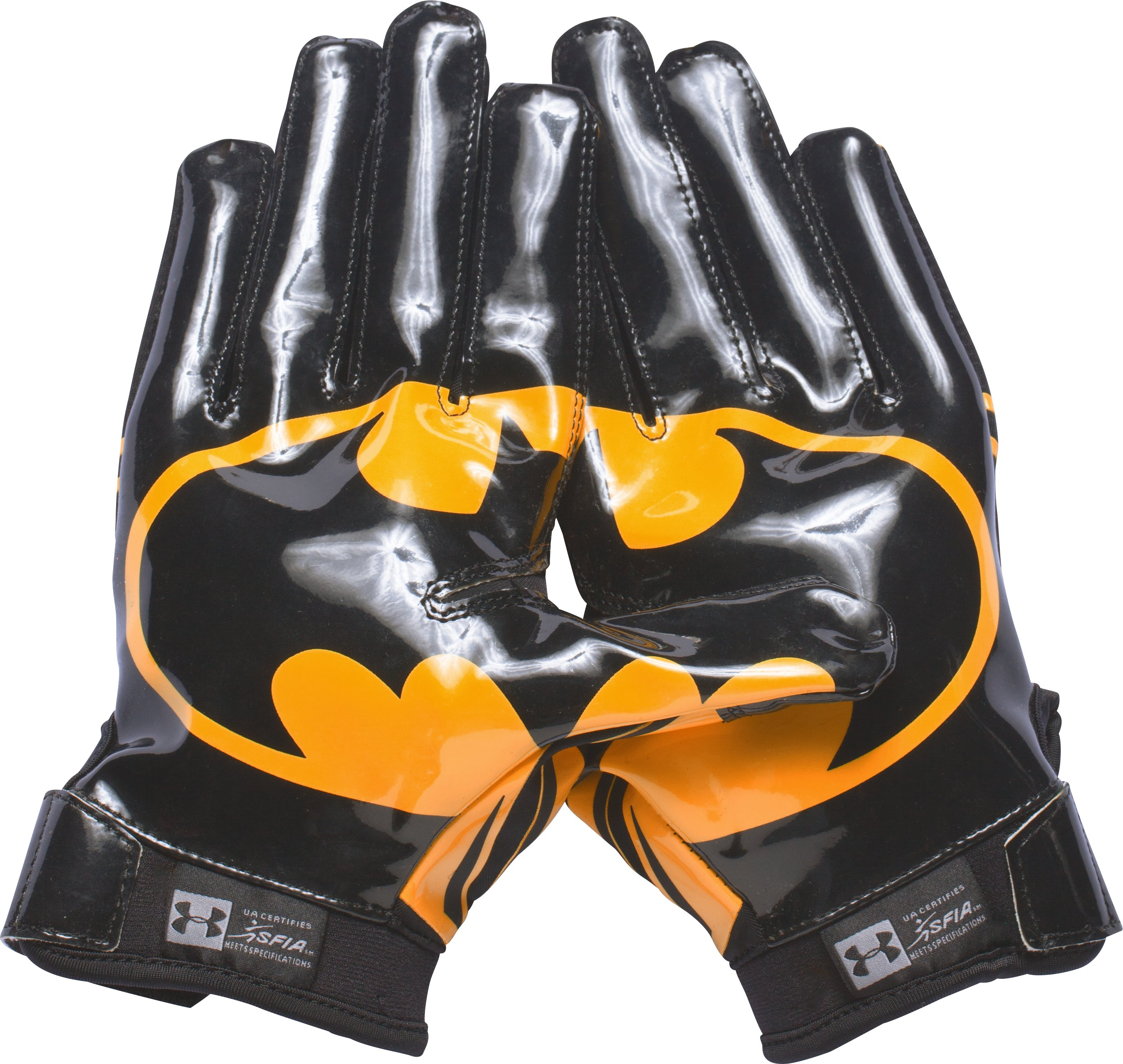 Men's Under Armour® Alter Ego Batman F5 Football Gloves, Black