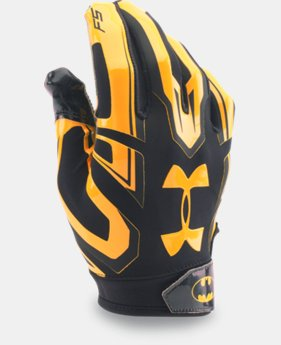 New Arrival  Men's Under Armour® Alter Ego Batman F5 Football Gloves  1 Color $49.99
