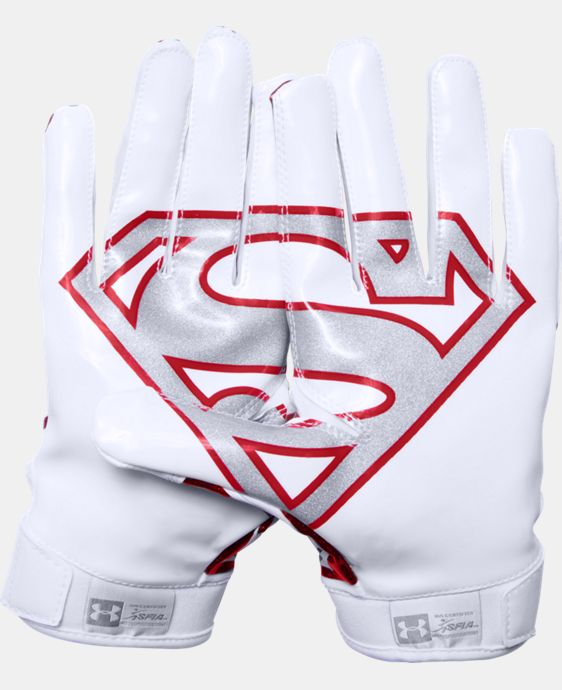 Men's Under Armour® Alter Ego Superman F5 Football Gloves  1 Color $44.99