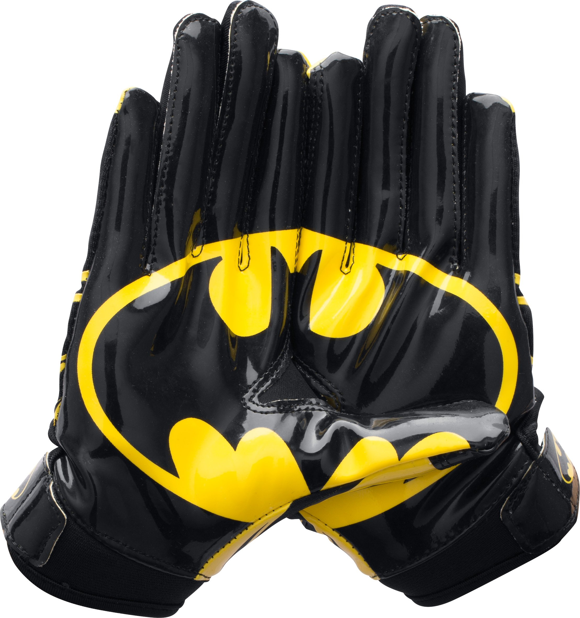 Boys' Under Armour® Alter Ego Batman F5 Football Gloves, Black , zoomed image