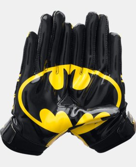 New Arrival Boys' Under Armour® Alter Ego Batman F5 Football Gloves  1 Color $34.99