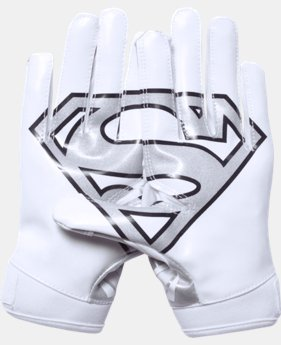 New to Outlet Boys' Under Armour® Alter Ego Superman F5 Football Gloves  1 Color $24.99