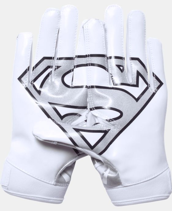 Boys' Under Armour® Alter Ego Superman F5 Football Gloves  2 Colors $34.99