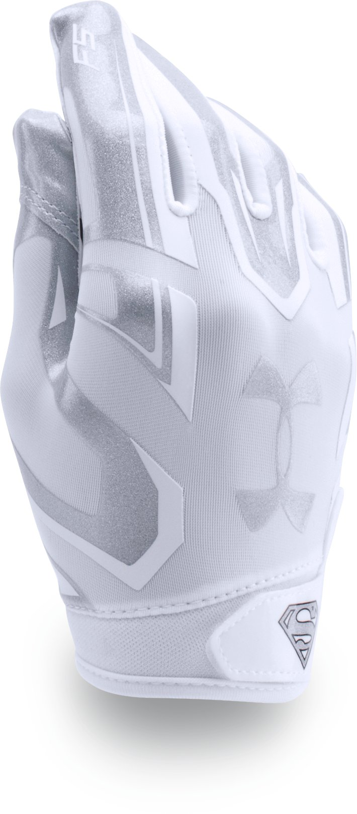 Boys' Under Armour® Alter Ego Superman F5 Football Gloves, White,