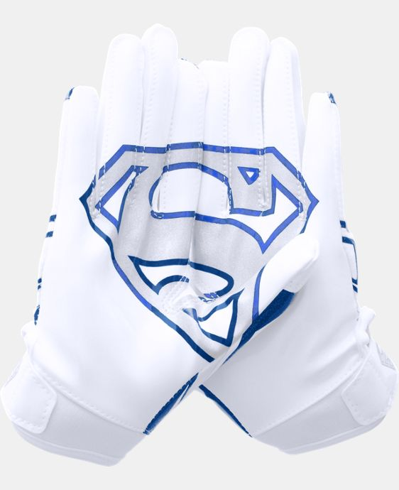 Boys' Under Armour® Alter Ego Superman F5 Football Gloves LIMITED TIME: FREE SHIPPING 1 Color $26.99