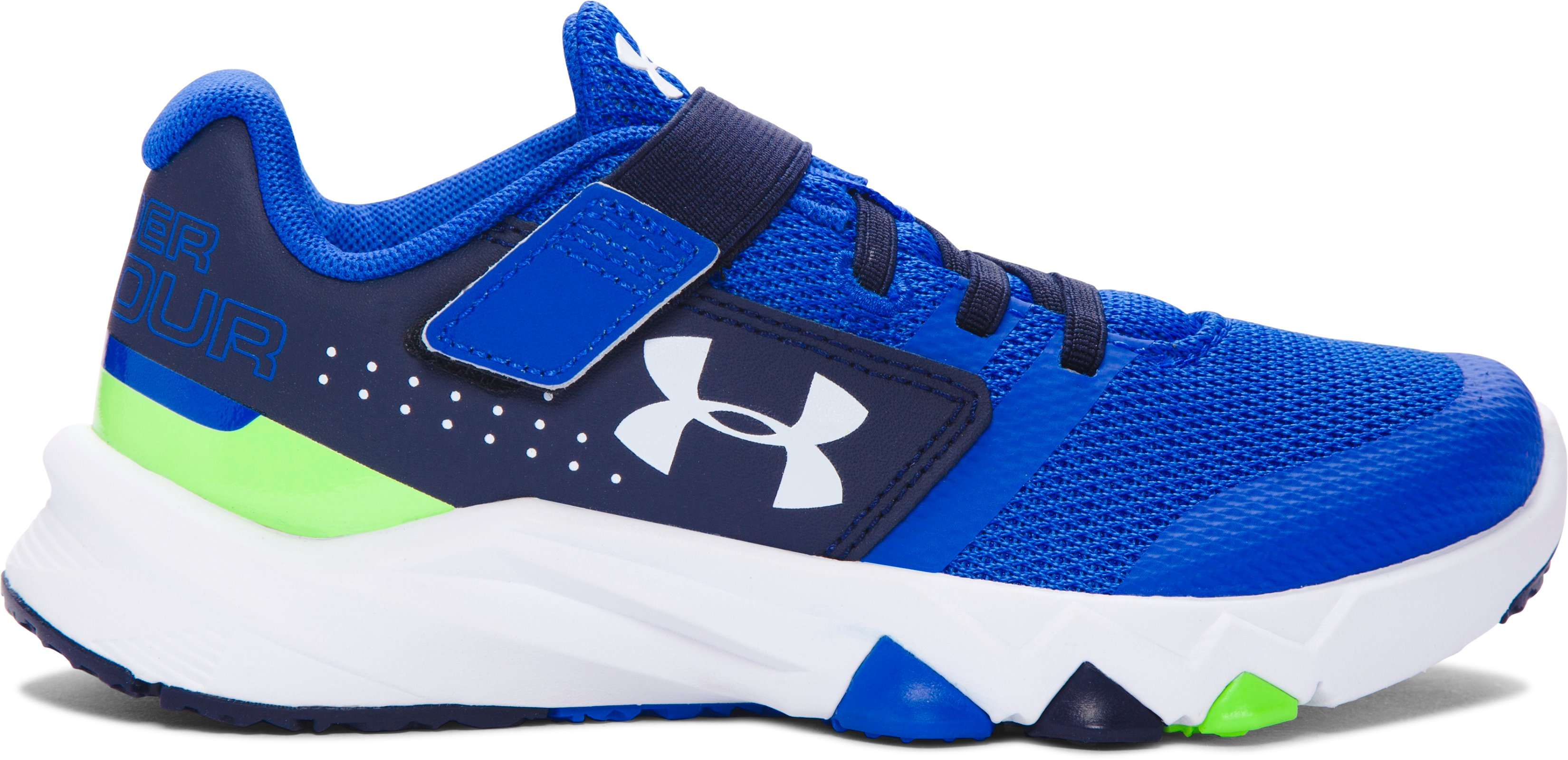 Boys' Pre-School UA Primed AC Running Shoes, ULTRA BLUE, zoomed image