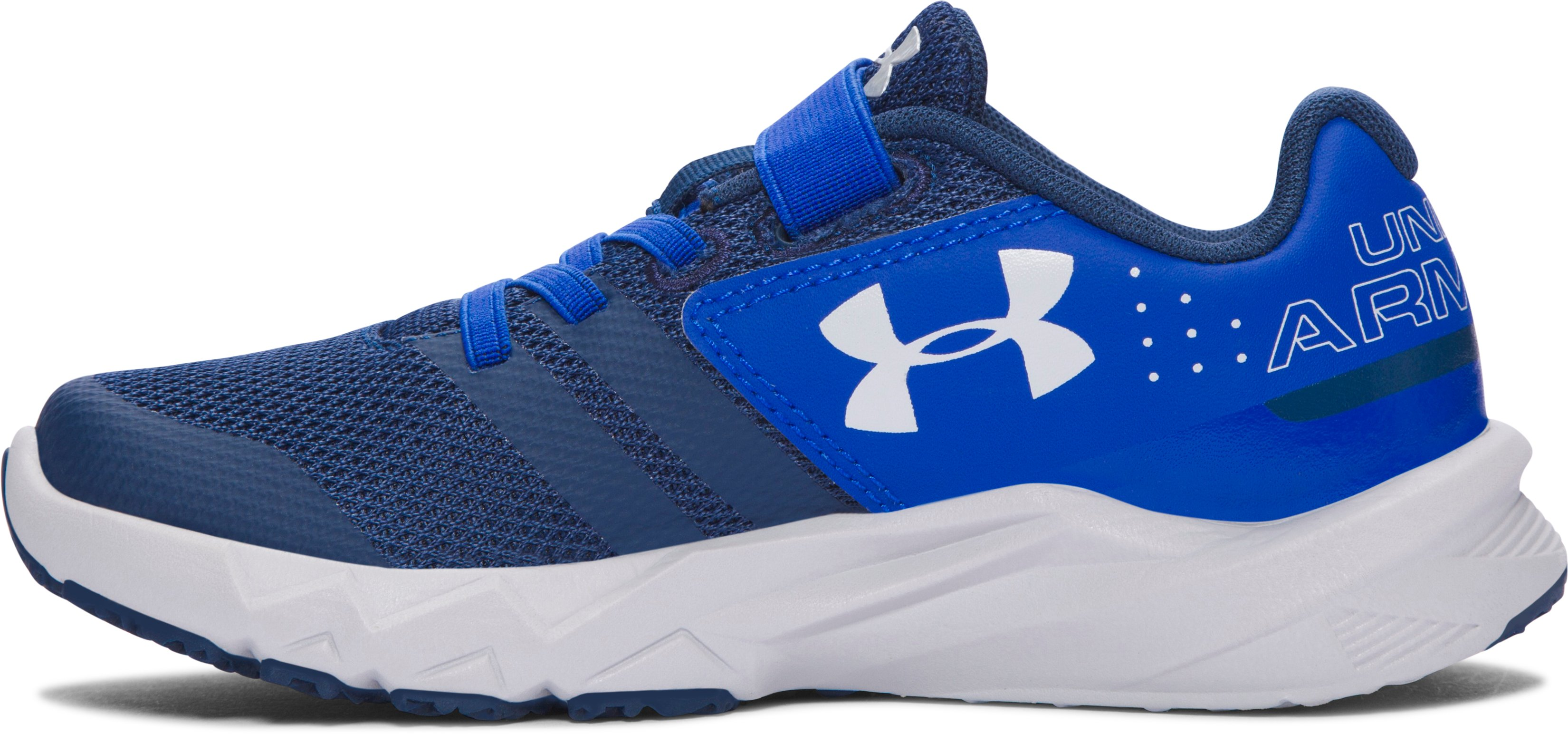 Boys' Pre-School UA Primed AC Running Shoes, BLACKOUT NAVY, undefined