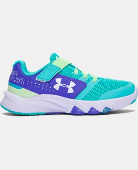 New to Outlet Girls' Pre-School UA Primed AC Running Shoes  2 Colors $57.99