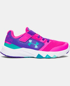 New to Outlet Girls' Pre-School UA Primed AC Running Shoes  1 Color $57.99
