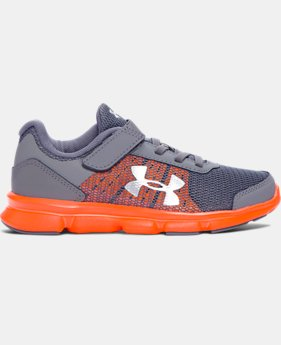 New Arrival  Boys' Pre-School UA Speed Swift AC Running Shoes   $59.99