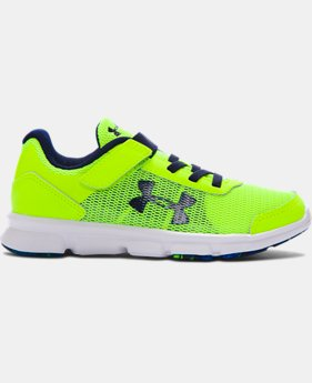 New Arrival  Boys' Pre-School UA Speed Swift AC Running Shoes  3 Colors $59.99