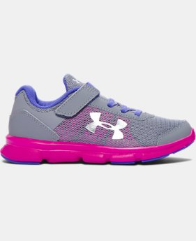 Girls' Pre-School UA Speed Swift AC Running Shoes   $49.99