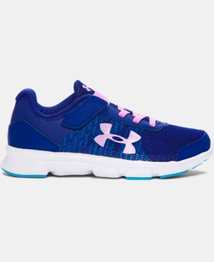Girls' Pre-School UA Speed Swift AC Running Shoes   1 Color $59.99
