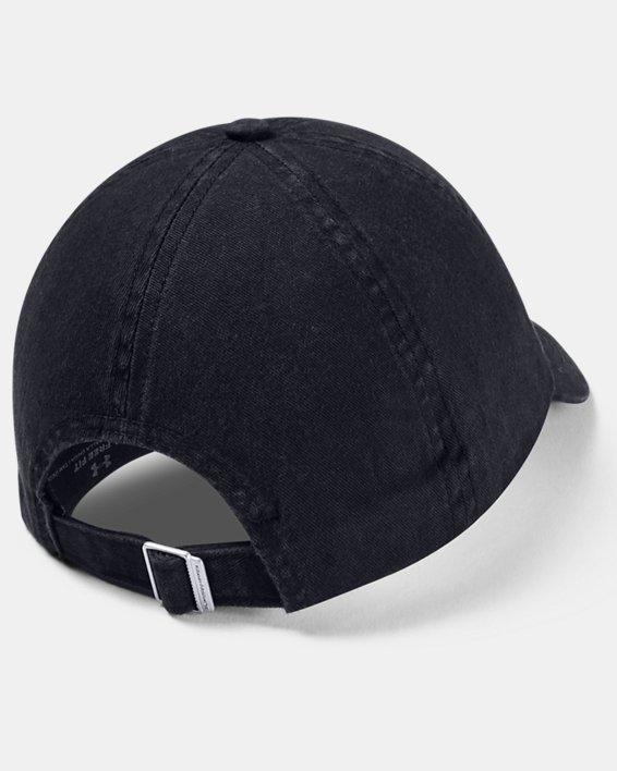 Women's UA Armour Washed Cap, Black, pdpMainDesktop image number 3