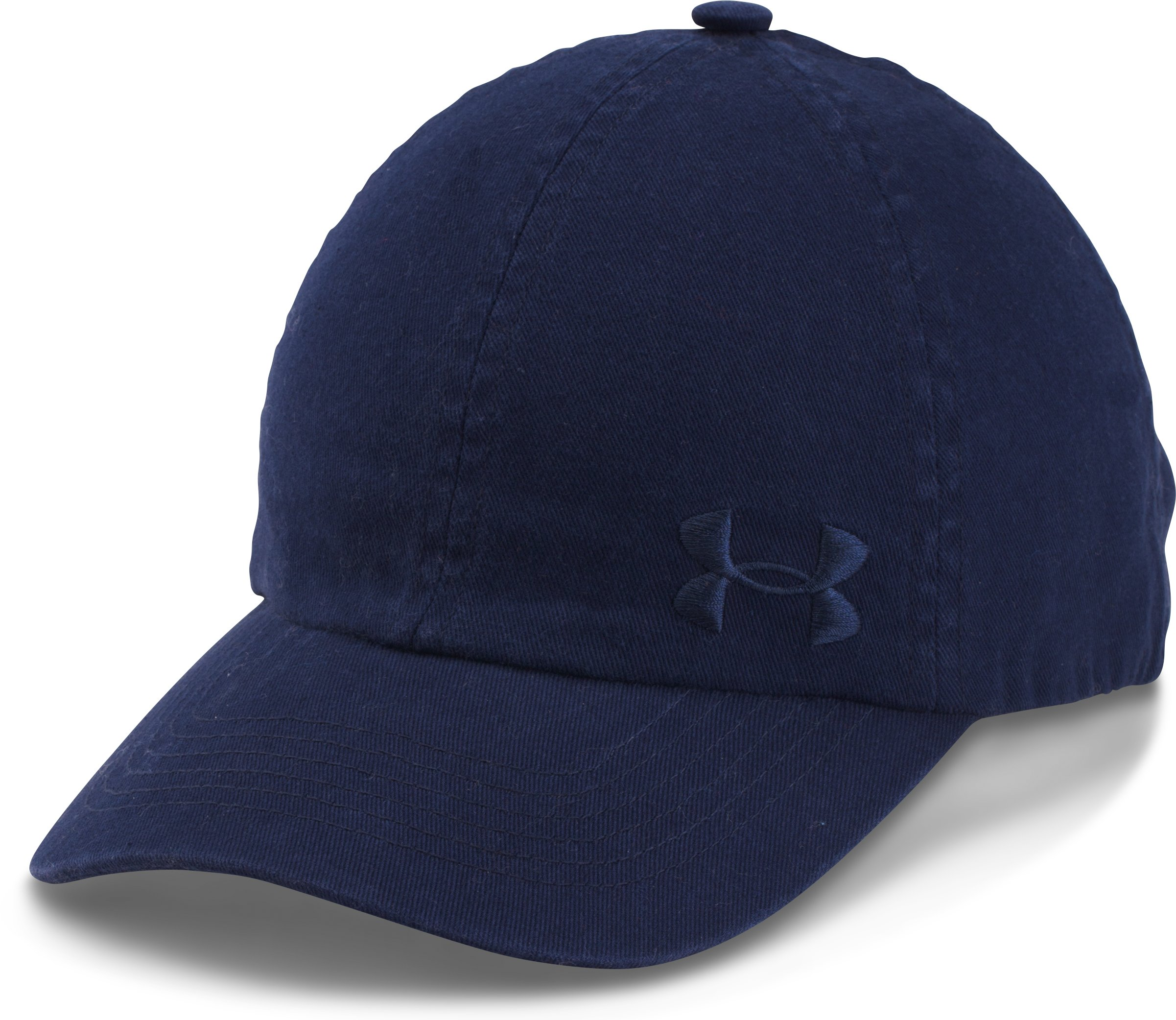 Women's UA Armour Washed Cap, Midnight Navy