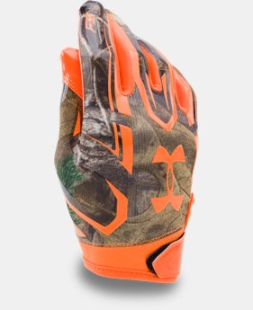 Boys' UA Camo F5 Football Gloves